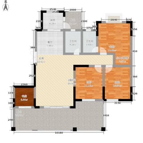黔源蓝湖星宇4室0厅2卫1厨143.00㎡户型图