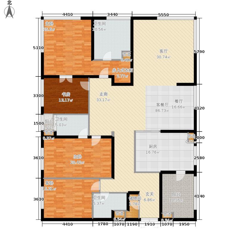 汇豪天下8号楼20至26层0户型
