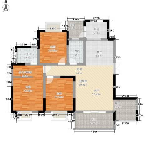 黔源蓝湖星宇3室0厅2卫1厨122.00㎡户型图