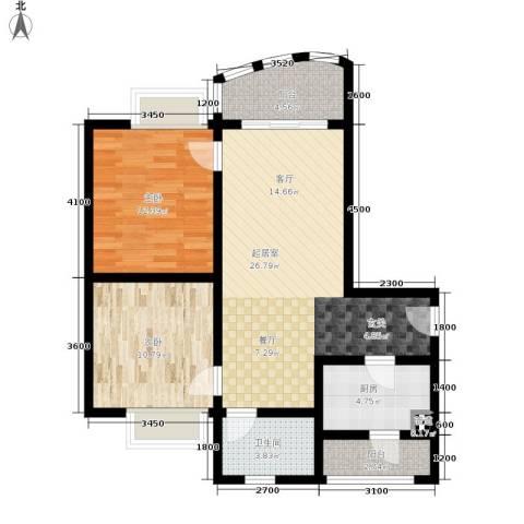 昌福盛景郦城2室0厅1卫1厨74.00㎡户型图
