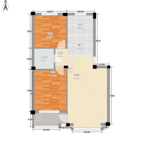 华宇凤凰城2室1厅1卫0厨70.00㎡户型图