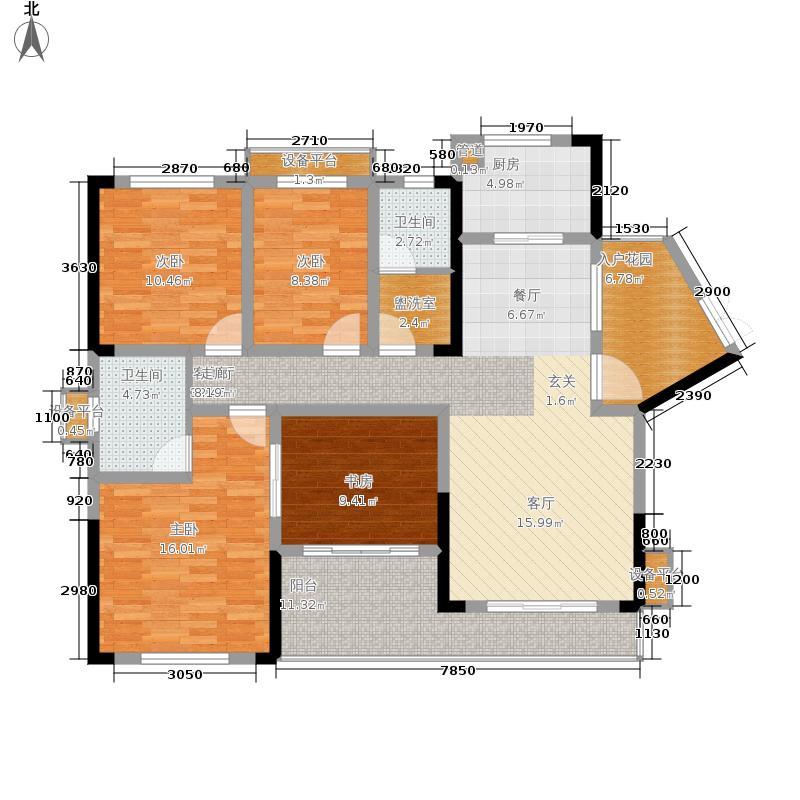 万里时代143.12㎡B-1户型4室2厅