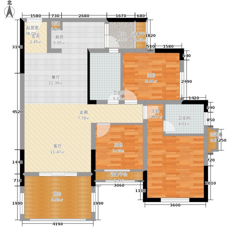 金科10年城90.03㎡三期B2栋1面积9003m户型
