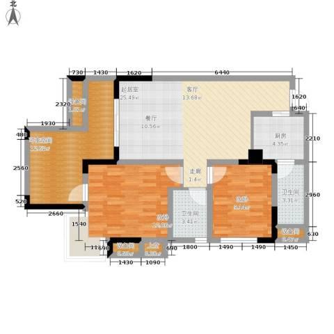 劲力五星城自由地2室0厅2卫1厨109.00㎡户型图