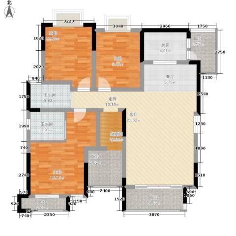 黔源蓝湖星宇3室0厅2卫1厨124.00㎡户型图
