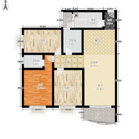 昌福盛景郦城3室0厅2卫1厨112.00㎡户型图