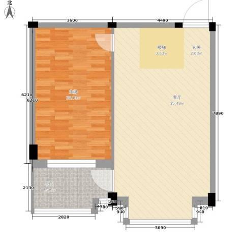 华宇凤凰城1室1厅0卫0厨68.00㎡户型图