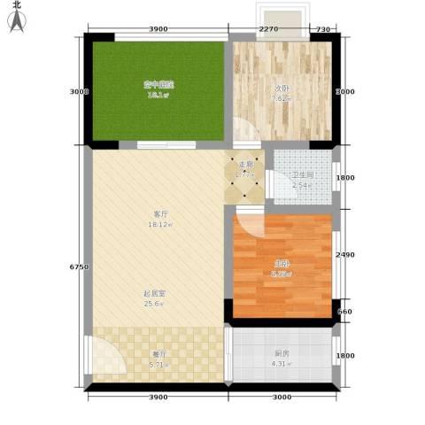 昌福盛景郦城2室0厅1卫1厨78.00㎡户型图