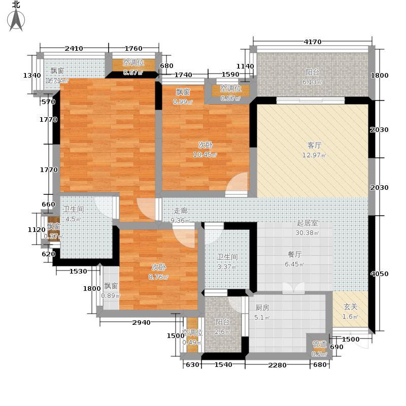富悦果岭92.57㎡2期3号楼标准层03户型