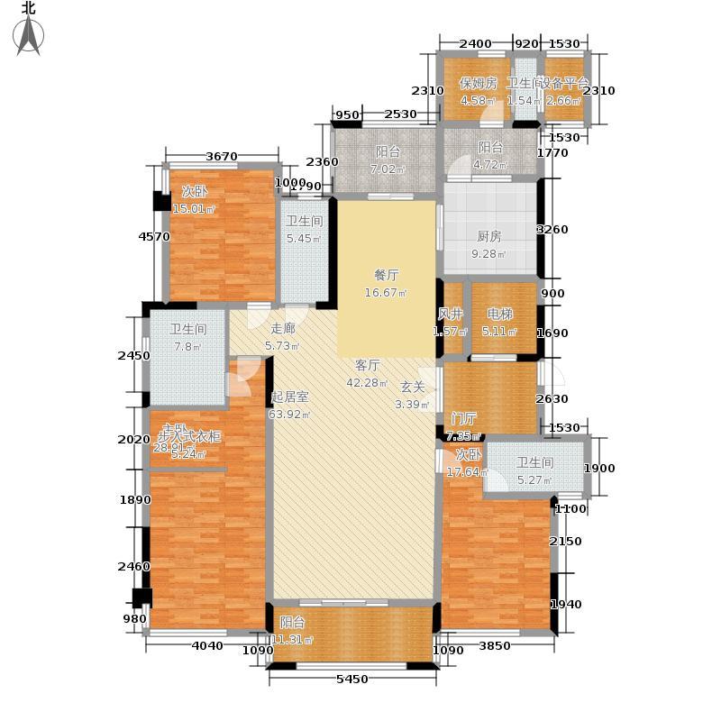 云星·钱隆首府213.05㎡云星钱隆首府8号楼-01户型4室2厅