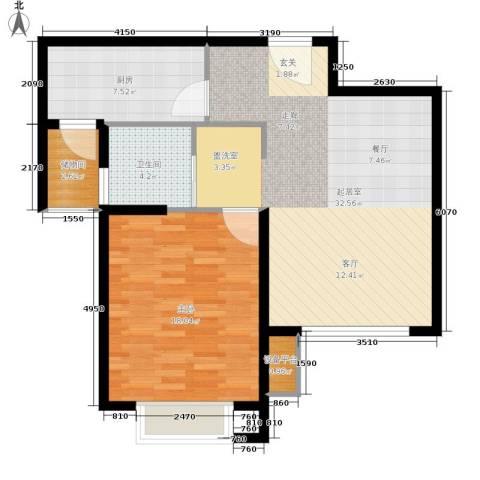 明园森林都市1室0厅1卫1厨74.00㎡户型图