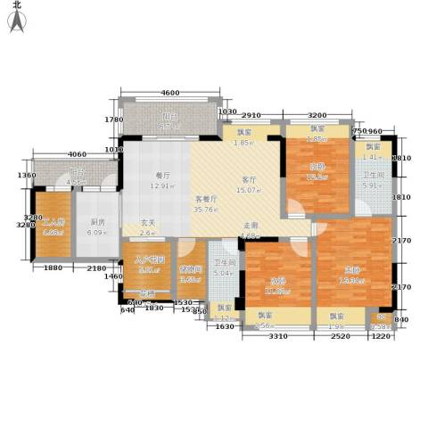 雍晟状元府邸3室1厅2卫1厨172.00㎡户型图