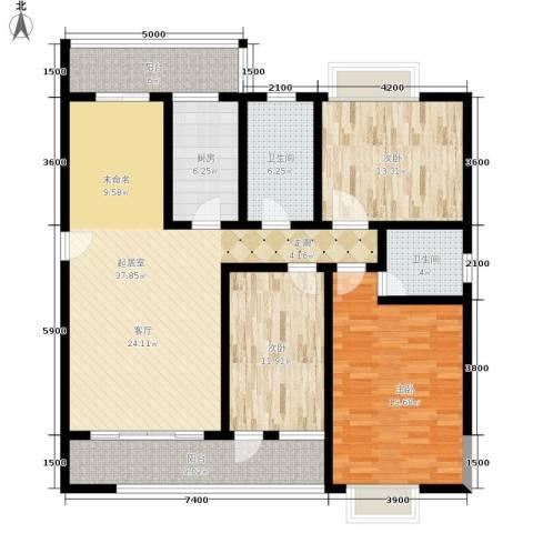 昌福盛景郦城3室0厅2卫1厨120.00㎡户型图