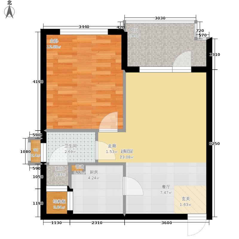 三亚·清平乐三亚清平乐二期B3户型1室2厅