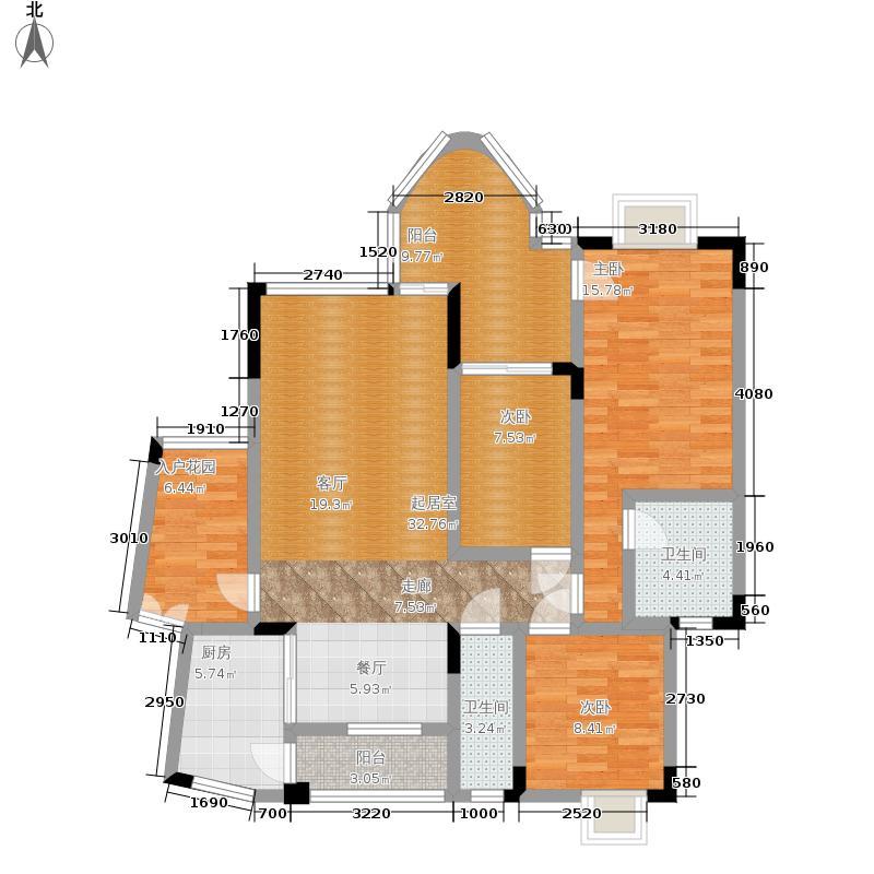 浩立半岛康城114.40㎡2-B1号面积11440m户型