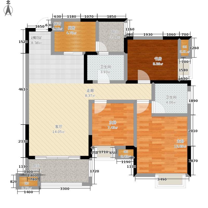 金都华府115.26㎡C-2户型3室2厅2卫
