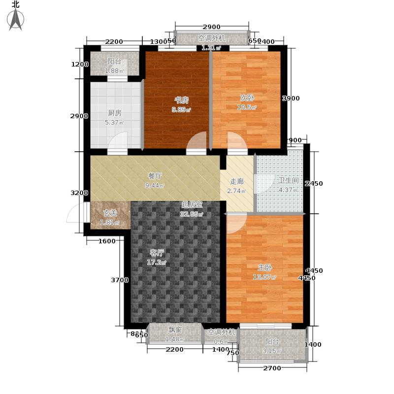 天鸿万象新天天鸿·万象新天K2户型3室2厅