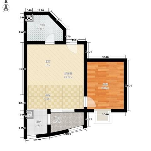 立源地小区1室0厅1卫0厨46.00㎡户型图