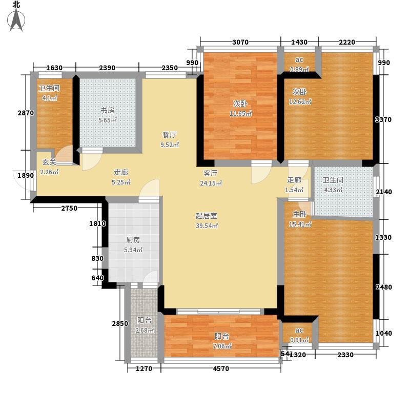 云星·钱隆首府132.31㎡云星钱隆首府8号楼-05户型4室2厅