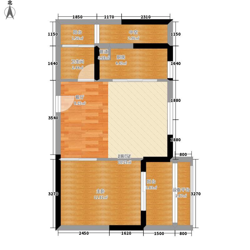 新加坡尚锦城56.00㎡13号楼1S-1东户型1室1厅