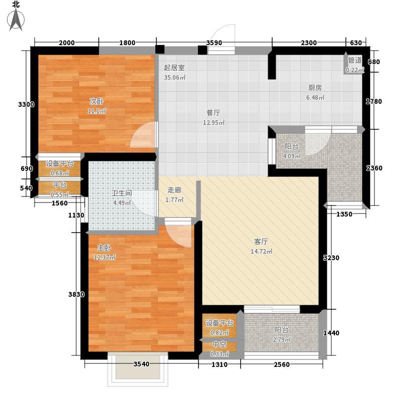 新加坡尚锦城87.00㎡尚中区A6户型2室2厅