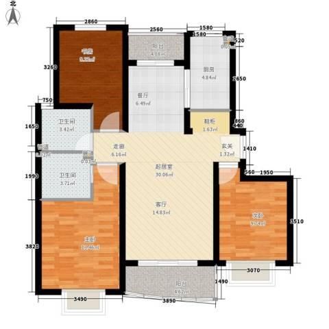 康桥月苑3室0厅2卫1厨94.00㎡户型图