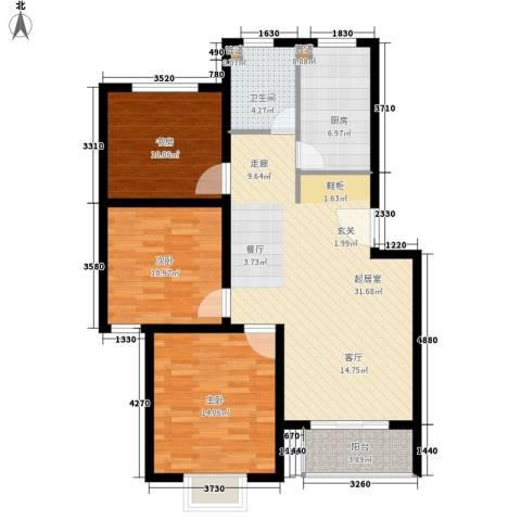 康桥月苑3室0厅1卫1厨93.00㎡户型图