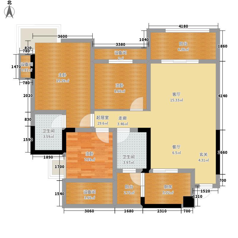 劲力五星城自由地一期6号楼标准层A-1户型