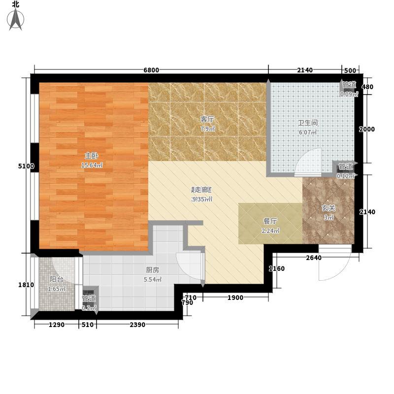 芥园58.08㎡一期1号楼标准层H户型