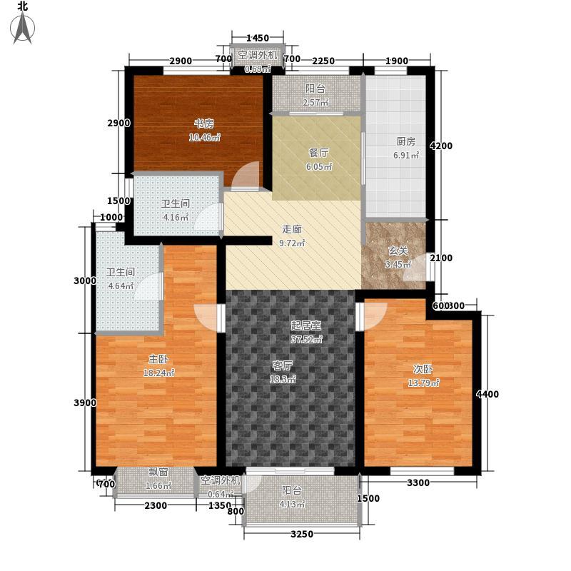 天鸿万象新天128.00㎡天鸿·万象新天首期多层C1户型3室2厅