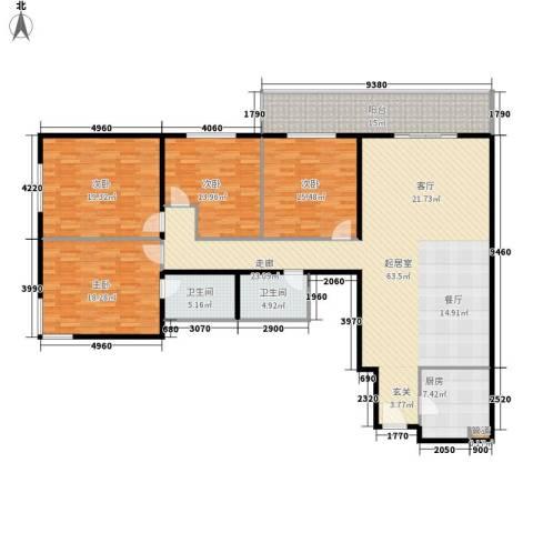吉利家园4室0厅2卫1厨178.00㎡户型图