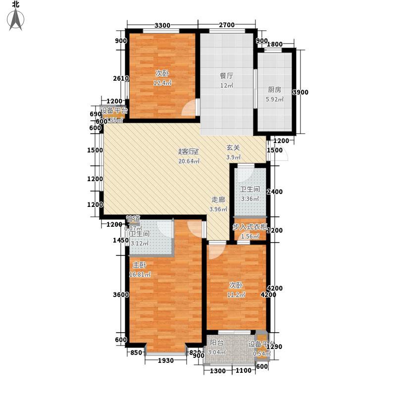 海龙湾137.80㎡R户型3室2厅
