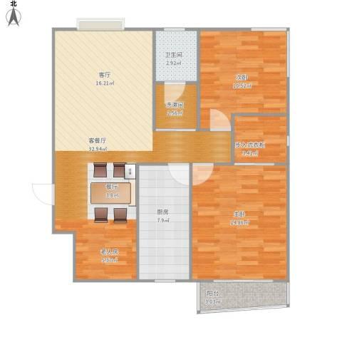 五龙湾山水庭院2室1厅1卫1厨105.00㎡户型图