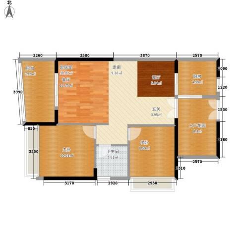 阳光圣菲2室0厅1卫1厨86.00㎡户型图