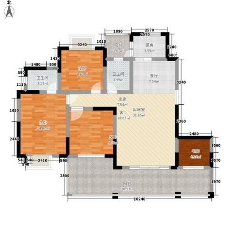 黔源蓝湖星宇4室0厅2卫1厨142.00㎡户型图