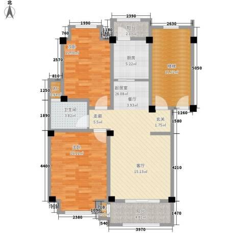 香榭丽都2室0厅1卫1厨119.00㎡户型图