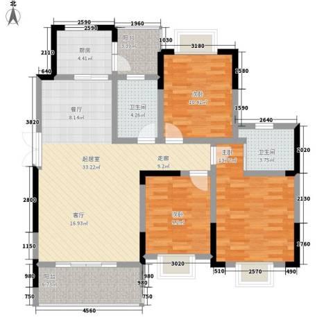 黔源蓝湖星宇3室0厅2卫1厨113.00㎡户型图