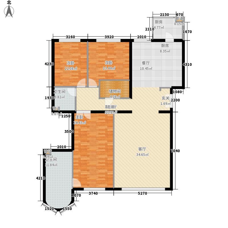 本家润园192.82㎡5号楼二单元C1户面积19282m户型