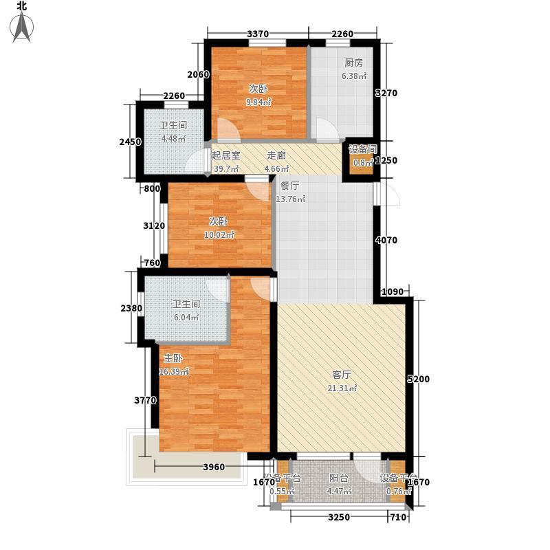 碧桂园银河城113.00㎡J95户型3室2厅
