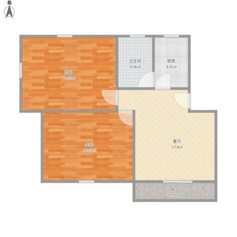 平吉一村2室1厅1卫1厨85.00㎡户型图