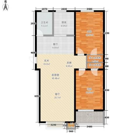 浩正�林湾2室0厅1卫1厨107.00㎡户型图