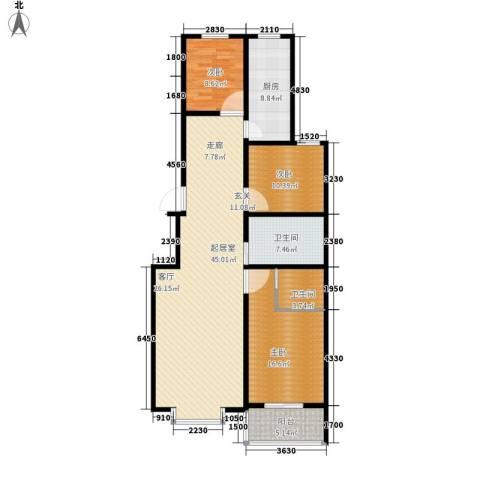 浩正�林湾3室0厅2卫1厨120.00㎡户型图
