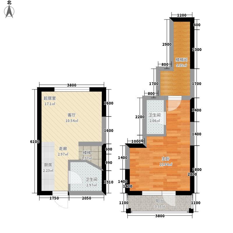中交金海湾61.10㎡12-21611m2复式户型1室1厅