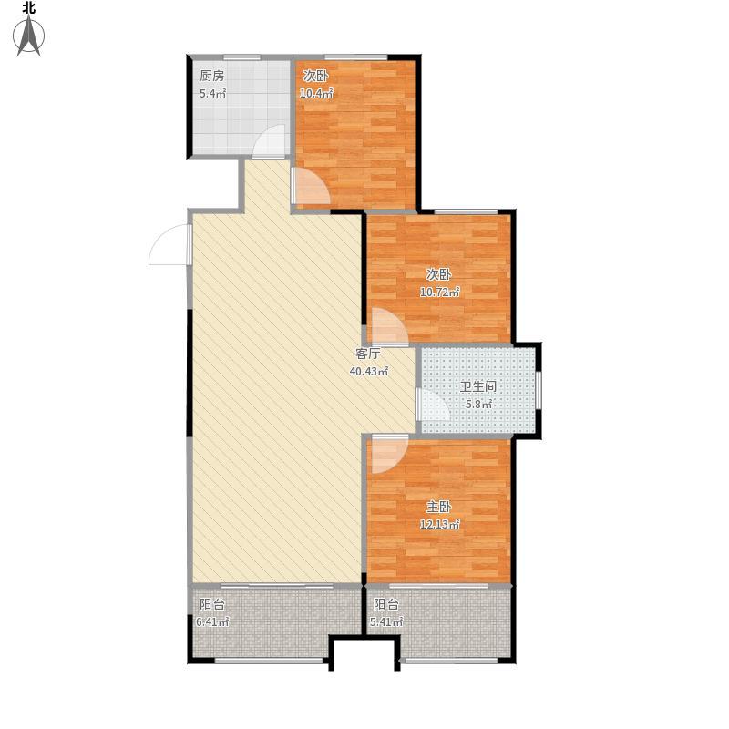 131㎡A户型3室2厅1卫