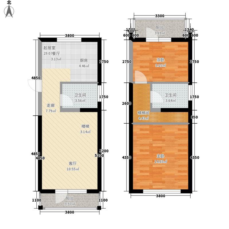 中交金海湾94.50㎡22945m2复式户型2室2厅