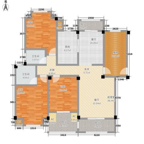香榭丽都3室0厅2卫1厨177.00㎡户型图