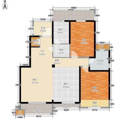 保利湖畔阳光苑2室0厅1卫1厨199.00㎡户型图