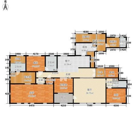 华润外滩九里3室1厅4卫1厨277.00㎡户型图