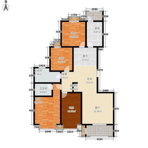 汇博阳光水岸4室0厅2卫1厨162.00㎡户型图