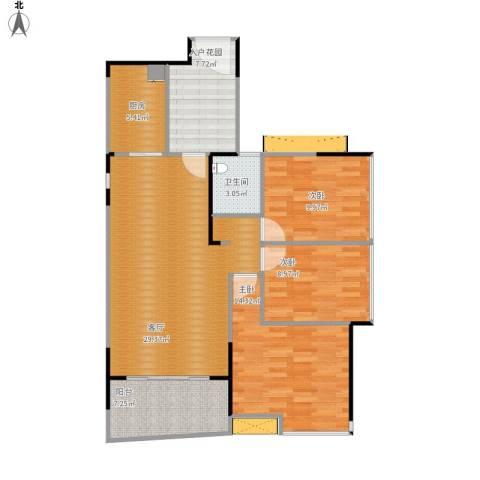 侨城水岸3室1厅1卫1厨116.00㎡户型图